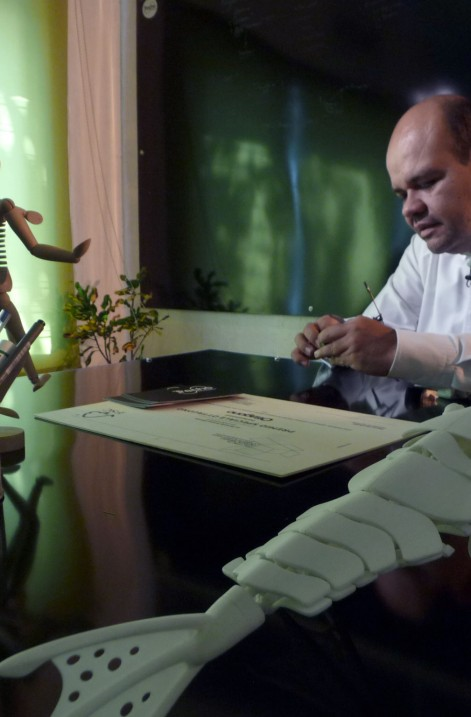 """Trecho en entrevista con el equipo de """"La Mezcladora"""", programa transmitido en Canal 22"""